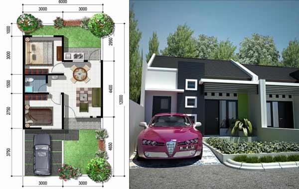 Desain Rumah Minimalis Type 36 Beserta Interior Dan