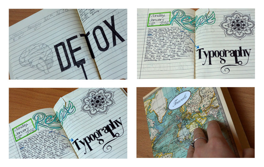Art Journal Typography