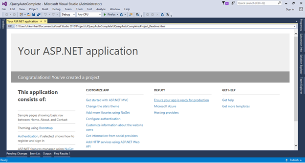 How to create AutoComplete TextBox In ASP NET MVC 5 ~ C# Library
