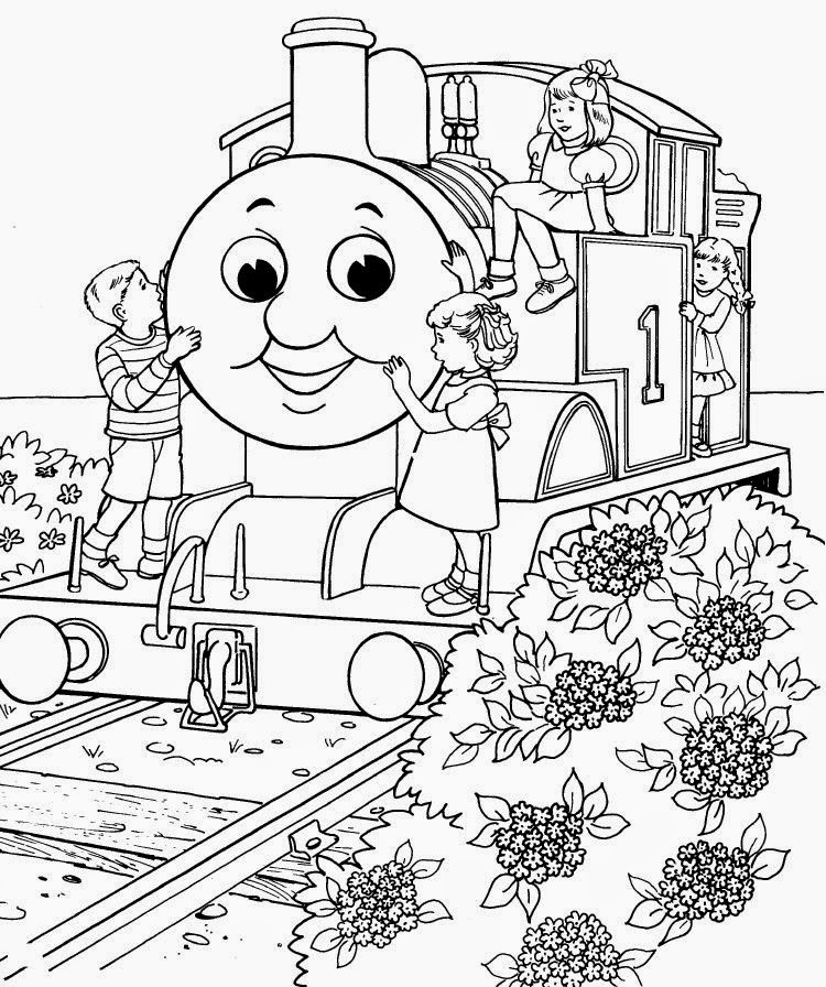 Mewarnai gambar Thomas untuk anak 10