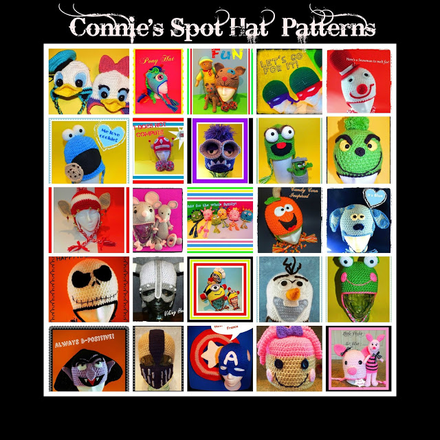 Connie's Spot© Crochet Hat Patterns Collection©