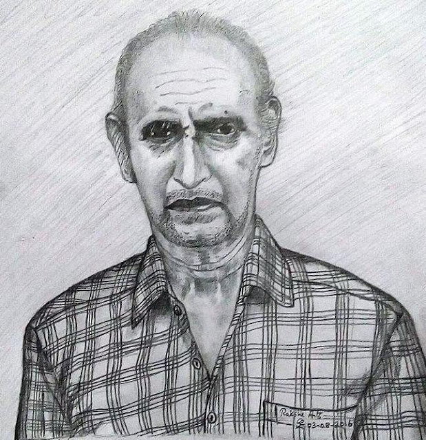 PENCIL DRAWING - VADIVEL TEACHER