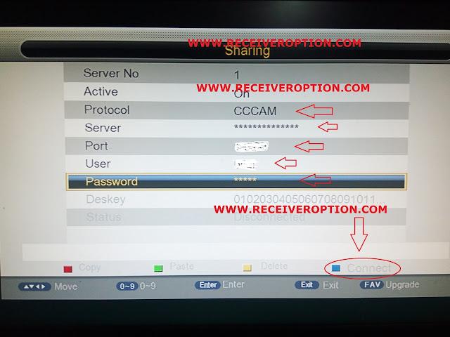 ECQLINK EI7000 HD RECEIVER CCCAM OPTION