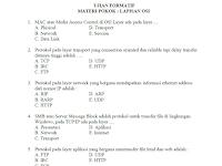 Kumpulan Soal Seputar OSI 7 Layer