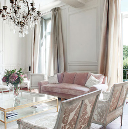 Design by Kelsey: interiors: rose colored apartment in paris