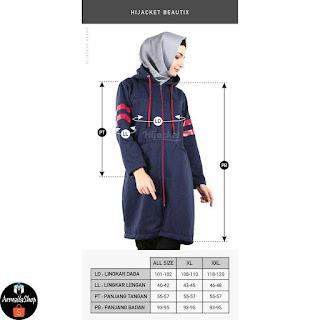 Original Hijacket Beautix Jaket Wanita Muslimah Modis dan Sporty Pink ORCHID PREMIUM FLEECE