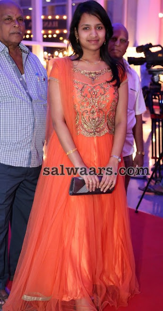 Peach Floor Length Salwar