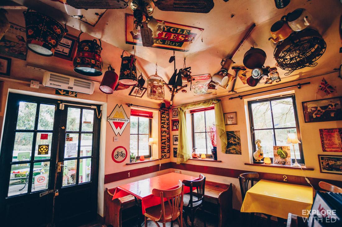 Quirky decor inside Bradford-on-Avon's The Lock Inn