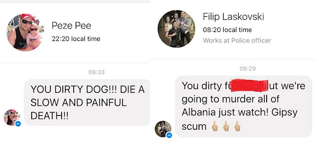 Albanian MD Mesila Doda gets hundred life threatening messages by Macedonians