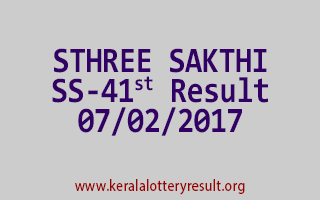 STHREE SAKTHI SS 41 Lottery Results 07-02-2017