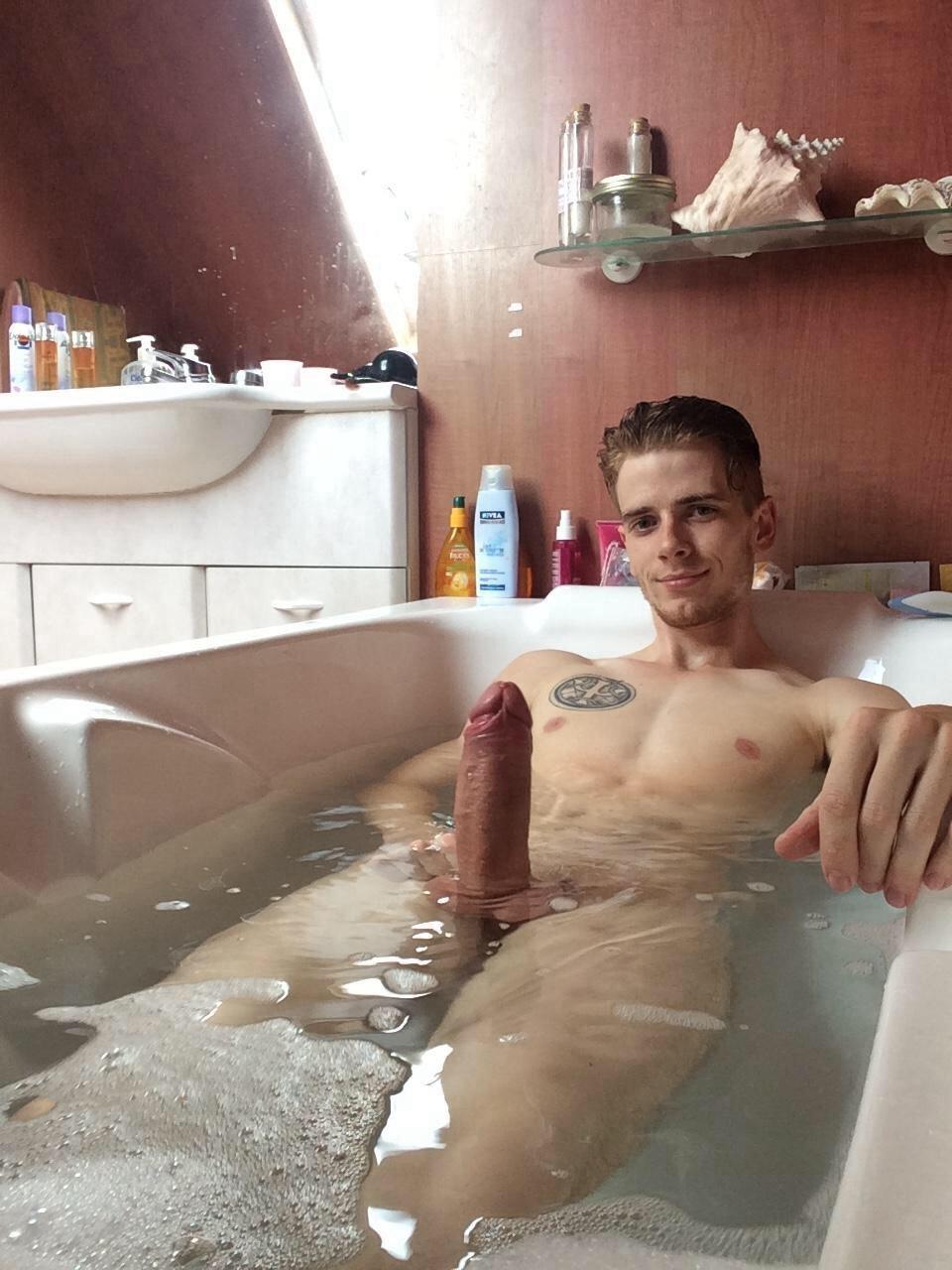 Cute Boy Jerks In Bathroom