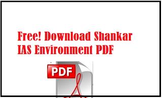 Free! Download Shankar IAS Environment PDF