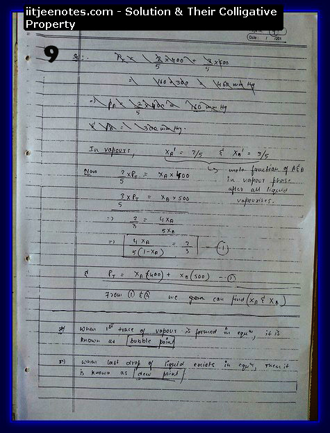 Solution and Their Colligative Property9