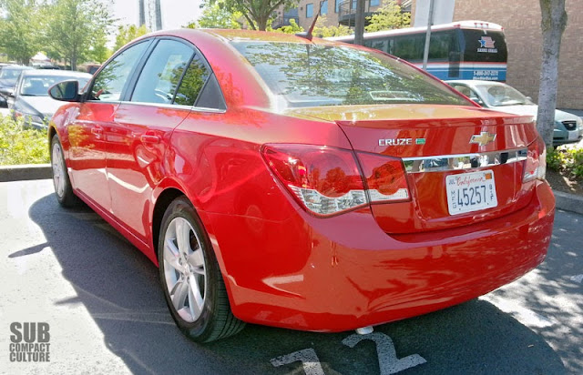 2014 Chevrolet Cruze Turbo Diesel rear shot