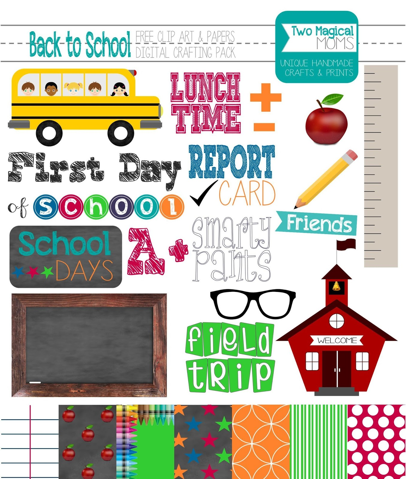 August back to school clip art free printable new images