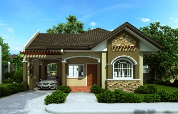 Wonderful Modern Bungalow House Plans In Philippines Part - 10: Garage Are Can Serve Its Own Purpose And Also Could Be Multi-purpose Area  When There Are Small Gatherings For Family.