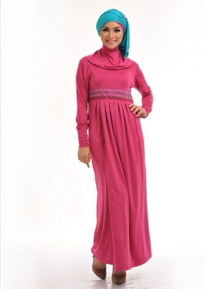 Model baju gamis terbaru batik pesta bahan brokat sifon Contoh baju gamis anak