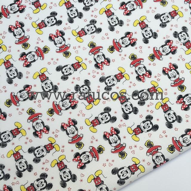 Ver en tienda, tela Mickey y Minnie