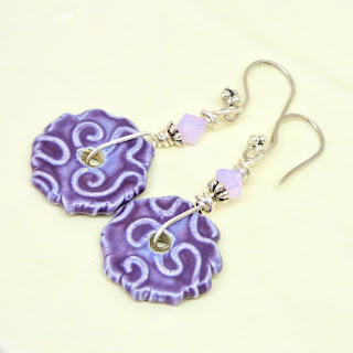 Purple and lilac earrings by BayMoonDesign