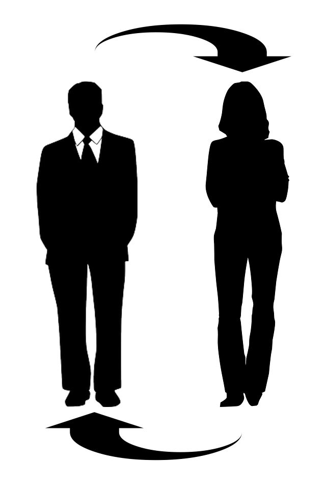 business-man and -woman