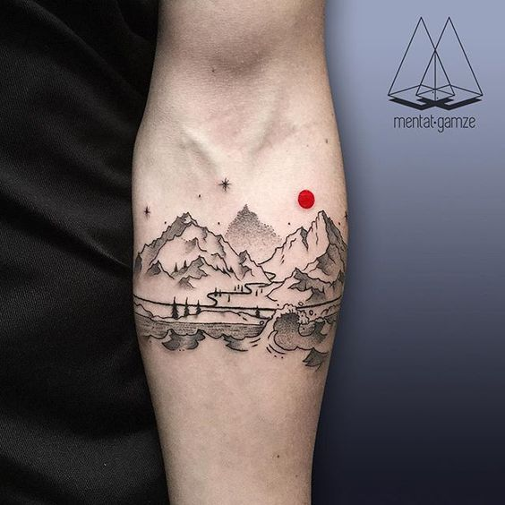 Awesome Mountain Tattoo Ideas For Women and Men