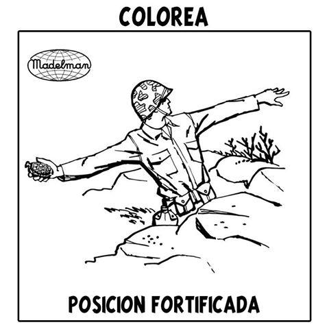 Colorea: Madelman hand grenade