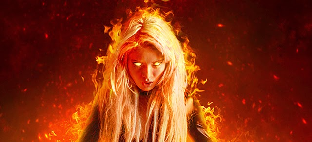 Tutorial photoshop fire effect