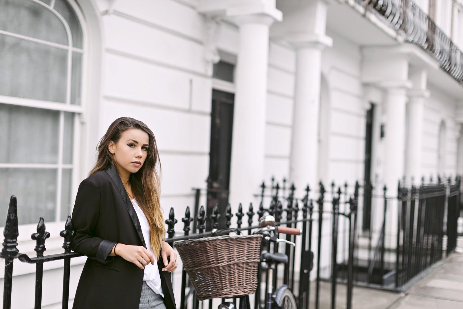 lavish alice blazer, tuxedo dressed down, spring fashion