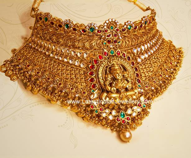 Huge Lakshmi Gold Choker