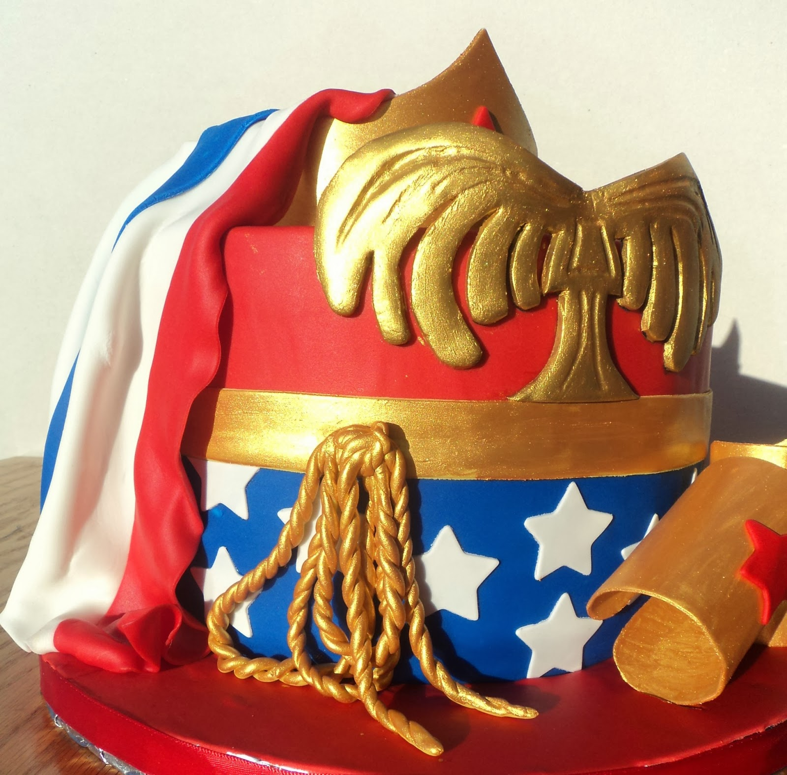 Delectable Cakes Wonder Woman With Cape Birthday Cake