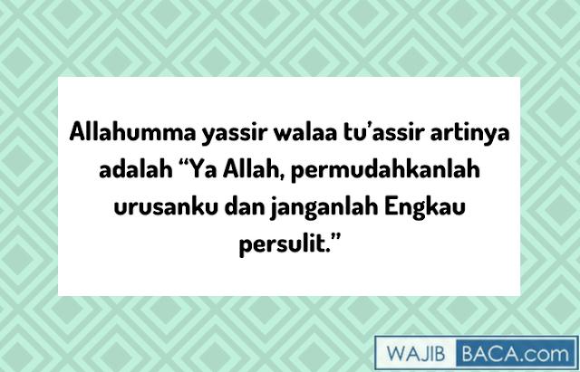 arti doa allahumma yassir