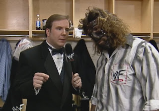 WWE / WWF Wrestlemania 15: Kevin Kelly interviews Mankind