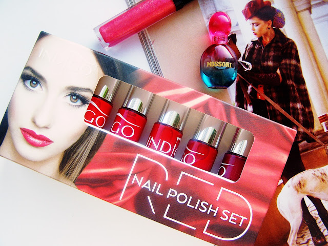 Indigo Nail Polish Set RED