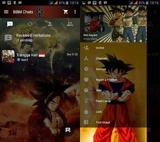 Aplikasi BBM Tema Dragon Ball Based 3.2.5.12