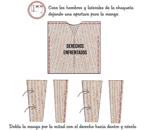 coser chaqueta oversized