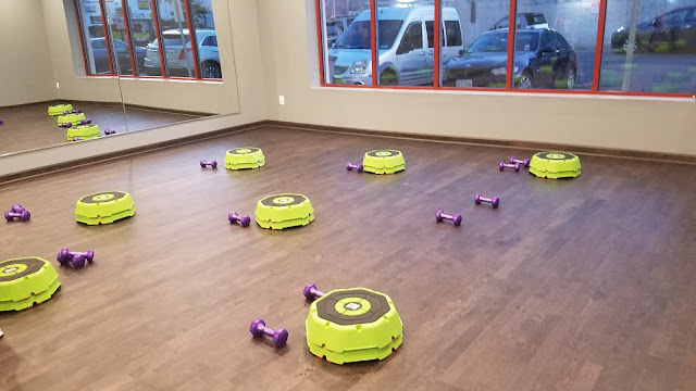 group fitness studio setup
