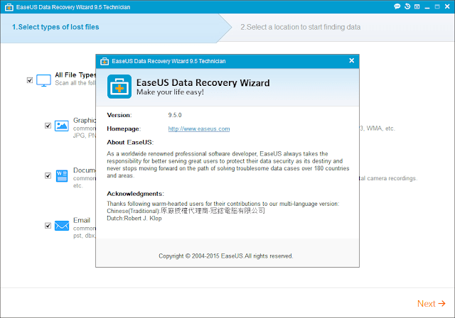 easeus data recovery wizard 9.5 serial key