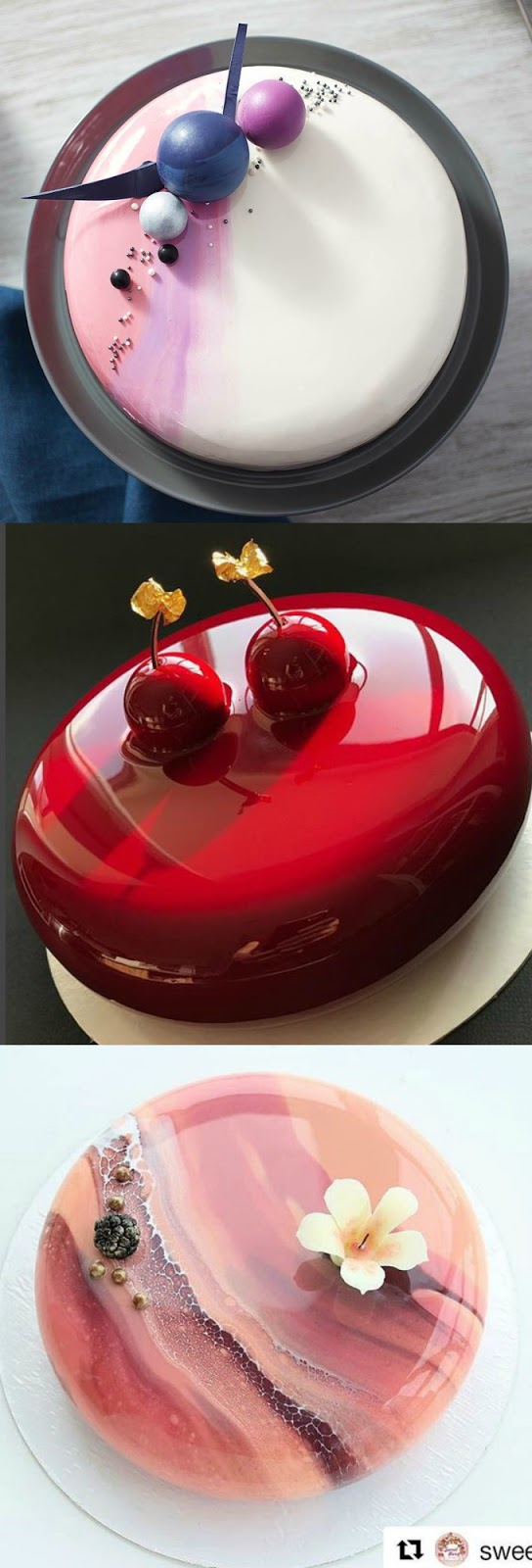 Mirror Glazed Cake