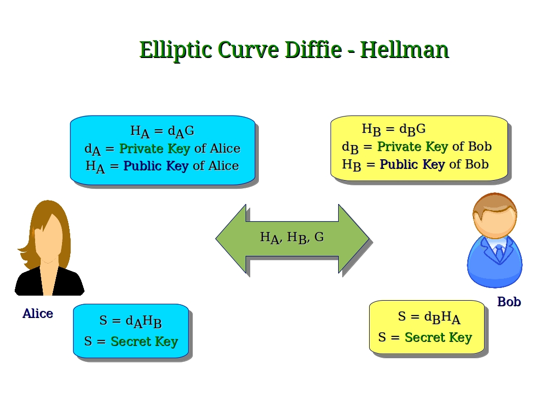 elliptic curve cryptography Those of you who know what public-key cryptography is may have already heard of ecc, ecdh or ecdsa the first is an acronym for elliptic curve cryptography, the others are names for algorithms based on it today, we can find elliptic curves cryptosystems in tls, pgp and ssh, which are just three of.