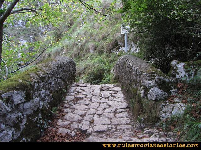 Ruta al Cabezo Llerosos desde La Molina: Puente sobre el rio Casaño