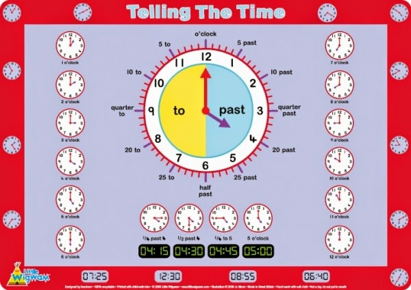 Blog De Los Ninos Telling The Time