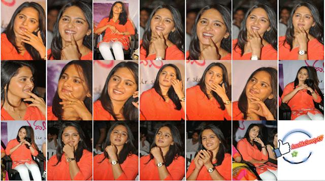 Anushka shetty smiling