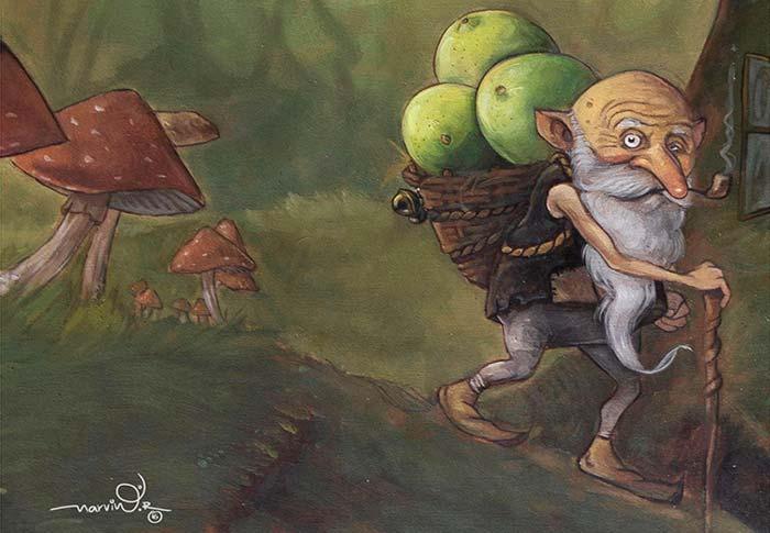 Ilustración, Retorna el duende de Marvin Edu Bravo Aquise