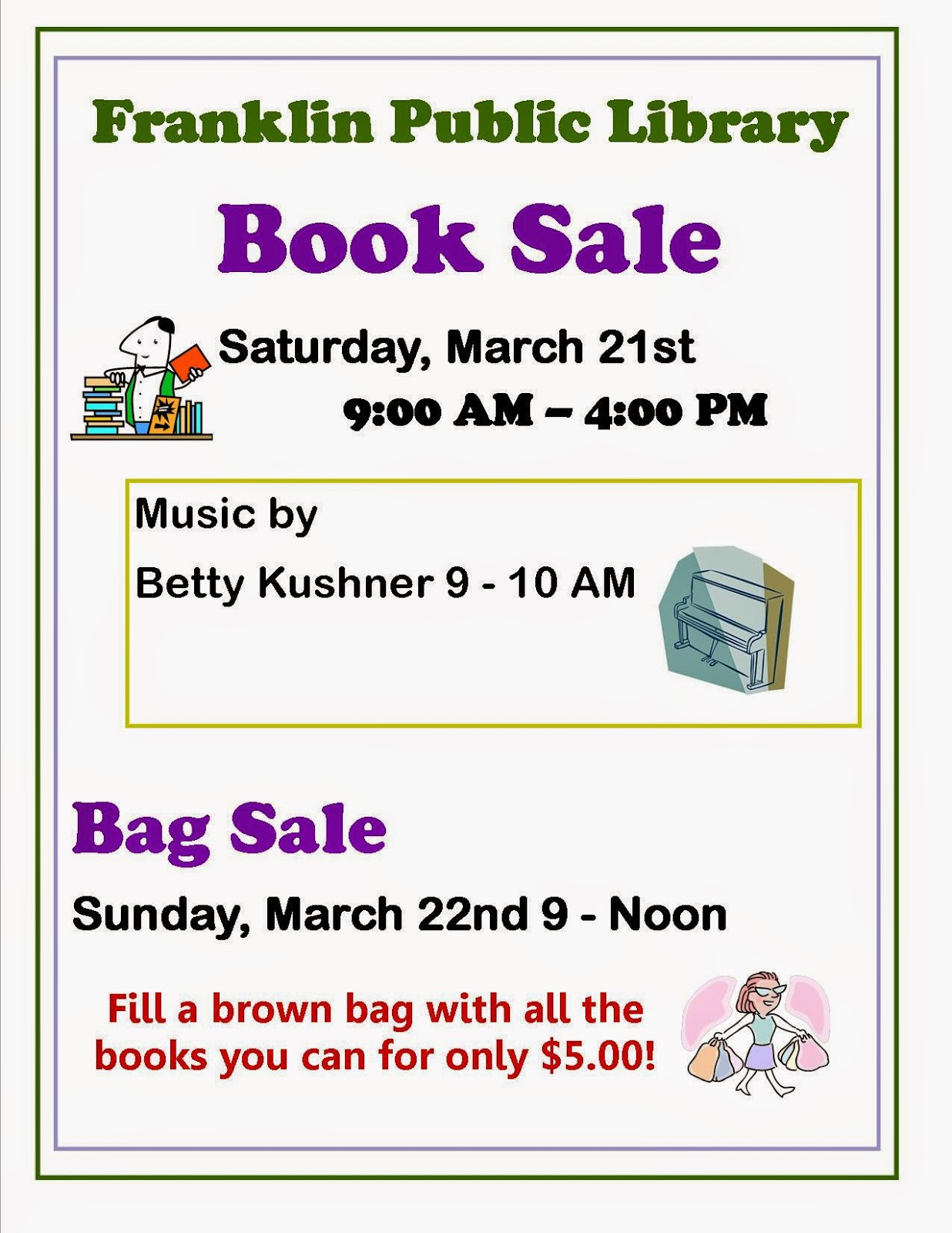 Library Book Sale - Mar 21 - 22