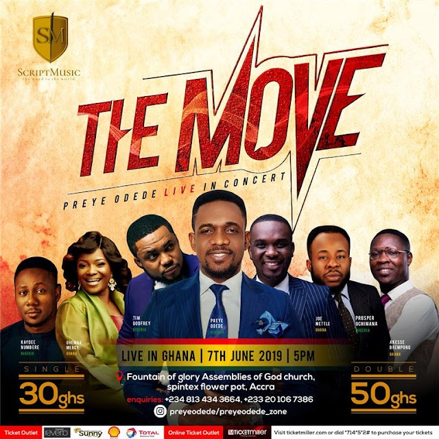 Preye Odede Unveils A-List Lineup For #THEMOVE Including Tim Godfrey, Joe Mettle, Others!