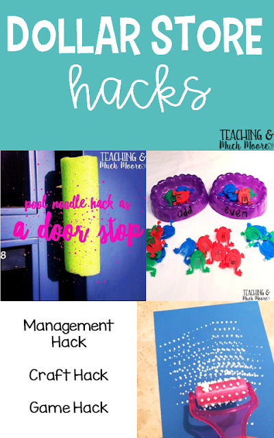 The Dollar Store is a great place to find teacher hacks, check these out to make your life a little easier.