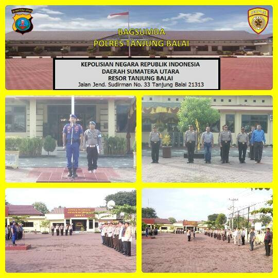 Kasat Polair Pimpin Apel Pagi Dilapangan Apel Polres Tanjung Balai