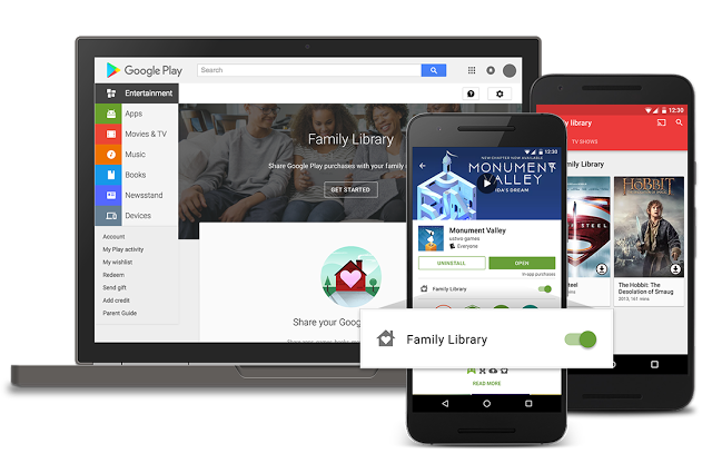 "Google wants to offer solutions save money yet still upholding individual access for each Member of the family by launching a feature entitled ""Family Library"", as in spool TEKNOKIA.COM, Friday (29/7/2016) from Google's official blog."