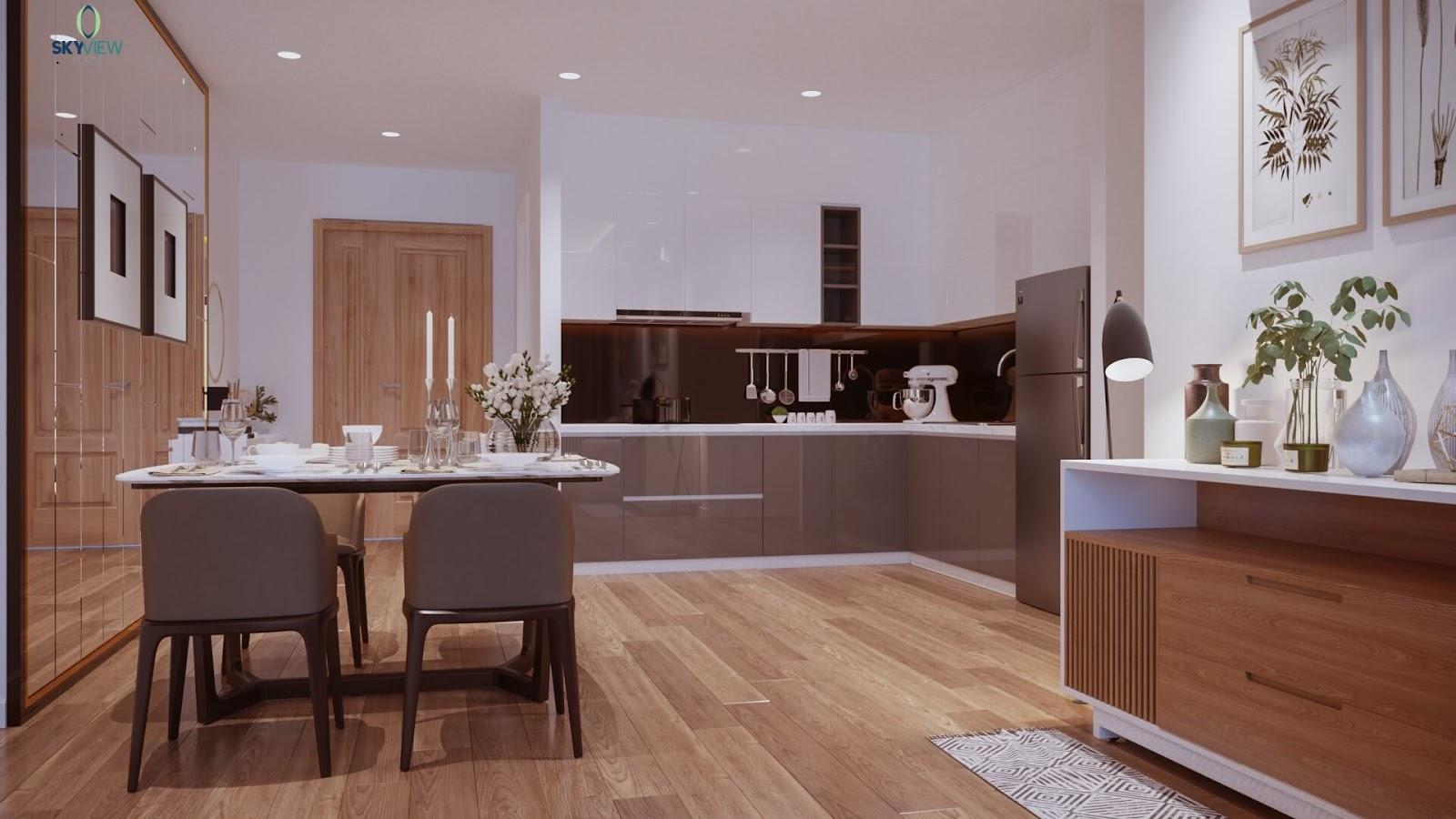 Phòng ăn của chung cư Sky View Plaza