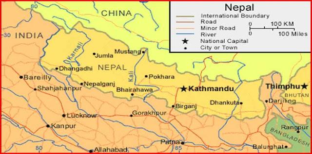 Gambar Peta Nepal